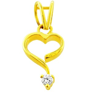 Heart-shaped Diamond Pendant by Jpearls