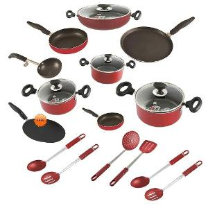 Crystal 18pc maha kitchen combo at 3295 on homeshop18 for Kitchen set combo offer